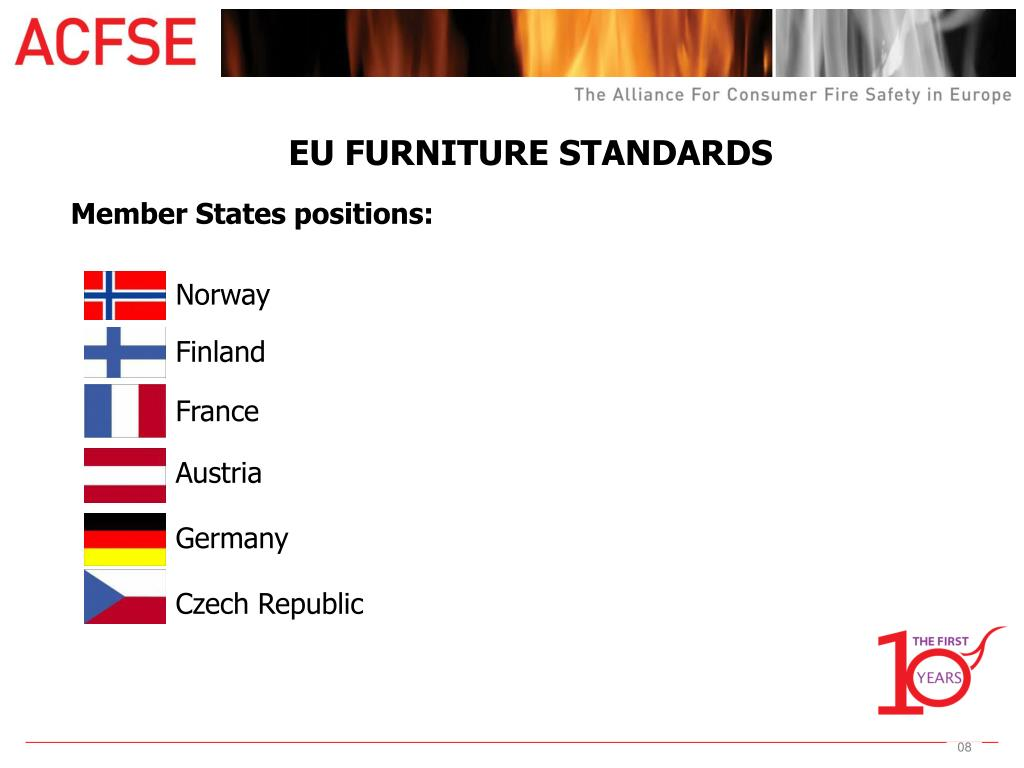EU FURNITURE STANDARDS