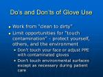 do s and don ts of glove use