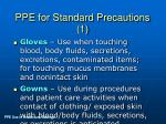 ppe for standard precautions 1