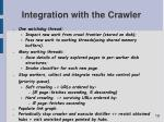 integration with the crawler