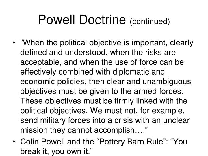 Powell Doctrine