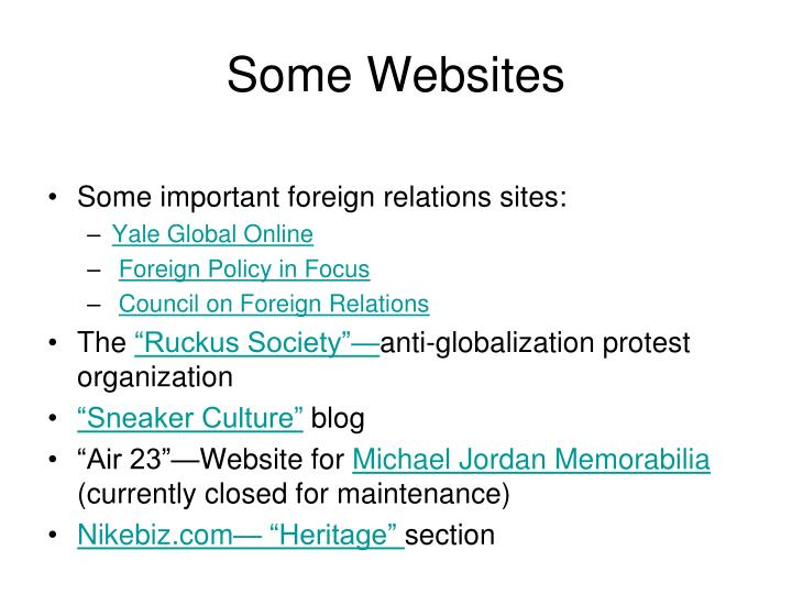 Some Websites
