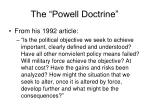 the powell doctrine