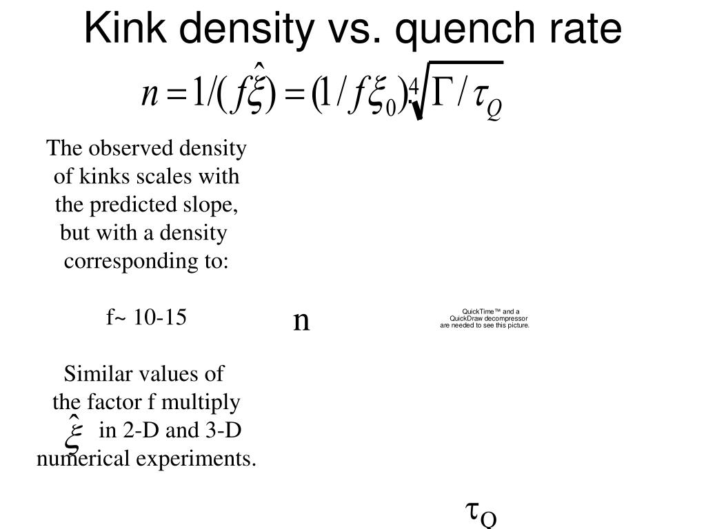 Kink density vs. quench rate