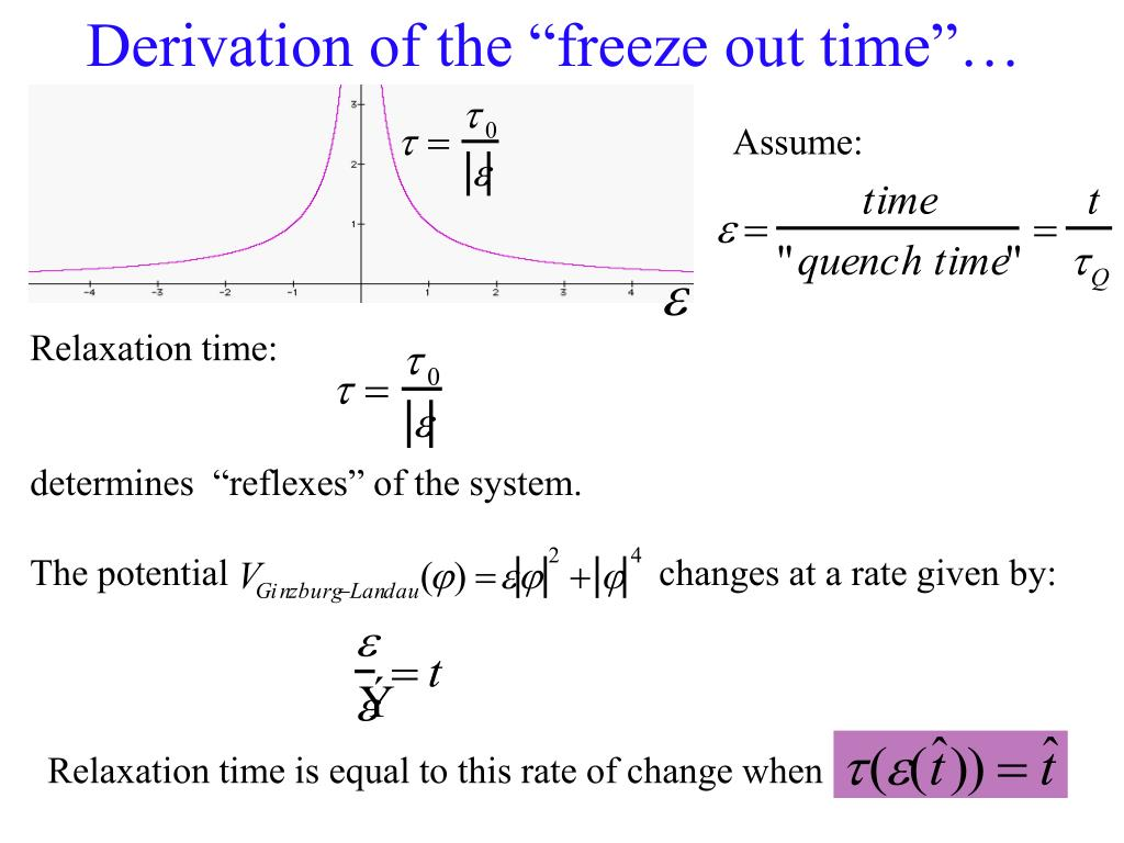 "Derivation of the ""freeze out time""…"
