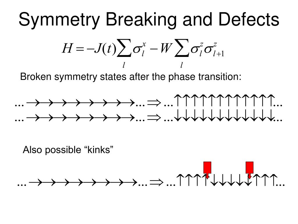 Symmetry Breaking and Defects