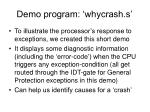 demo program whycrash s