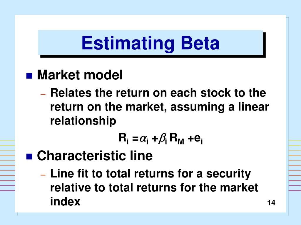Estimating Beta