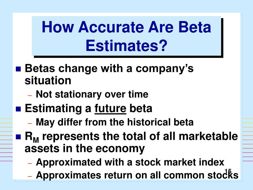How Accurate Are Beta Estimates?