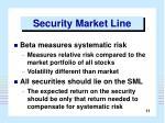 security market line11