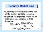 security market line9
