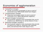 economies of agglomeration