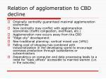 relation of agglomeration to cbd decline