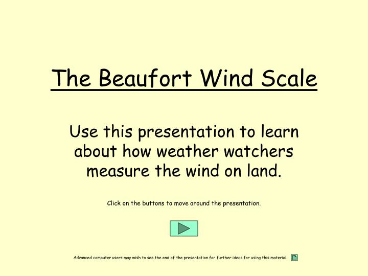 The beaufort wind scale