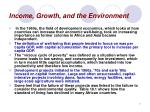 income growth and the environment