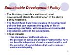 sustainable development policy35