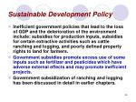 sustainable development policy36