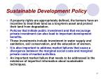sustainable development policy37