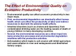 the effect of environmental quality on economic productivity