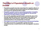 the effect of population growth on income13