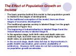the effect of population growth on income14
