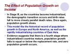 the effect of population growth on income16