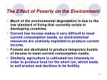 the effect of poverty on the environment