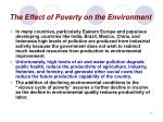 the effect of poverty on the environment11