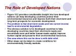 the role of developed nations