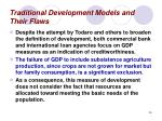 traditional development models and their flaws26