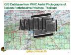 gis database from whc aerial photographs of nakorn rathchasima province thailand