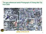 the geo referenced aerial photograph of chiang mai city from 2000