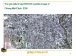 the geo referenced ikonos satellite image of chiang mai city in 2000