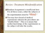 review treatment misidentification