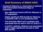 brief summary of swog 9035