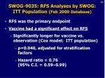 swog 9035 rfs analyses by swog itt population feb 2000 database36
