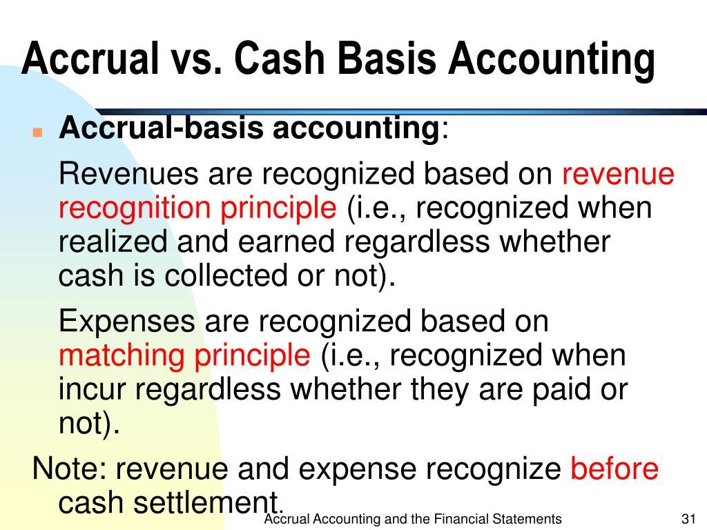 accounting and cash basis accounting