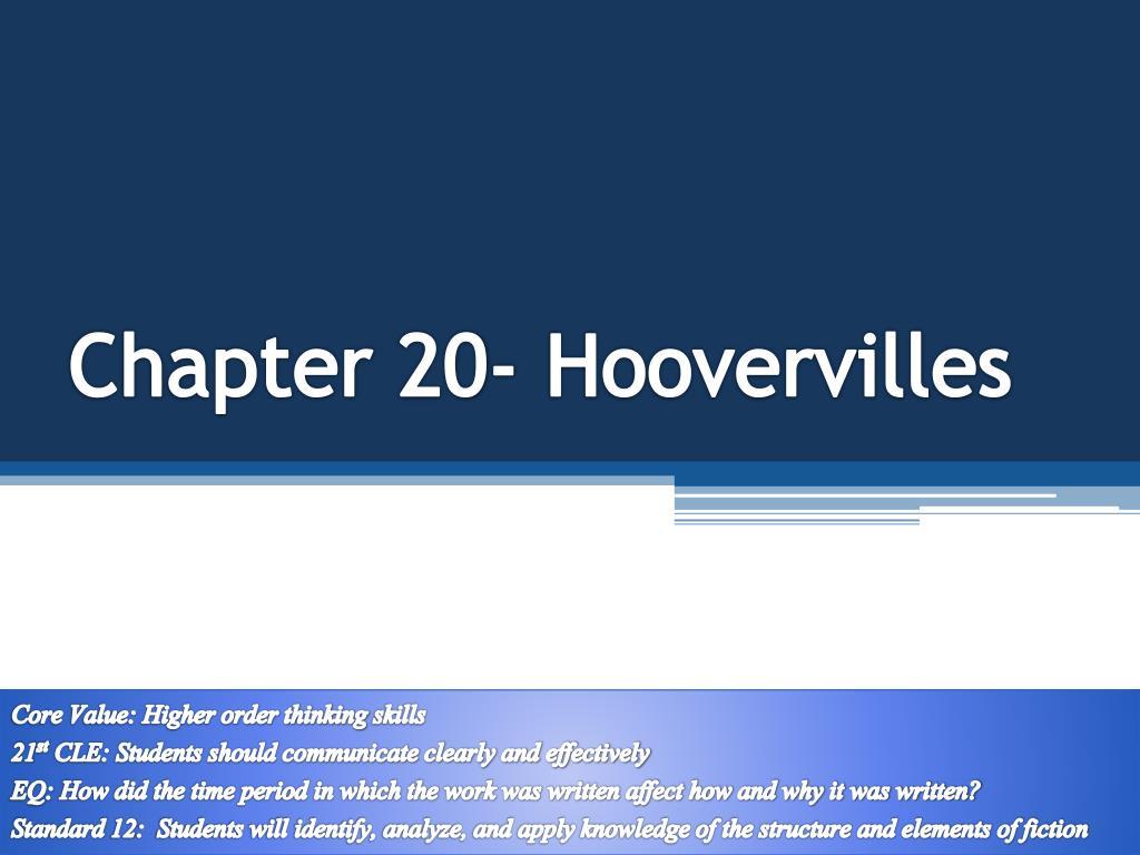 chapter 20 hoovervilles