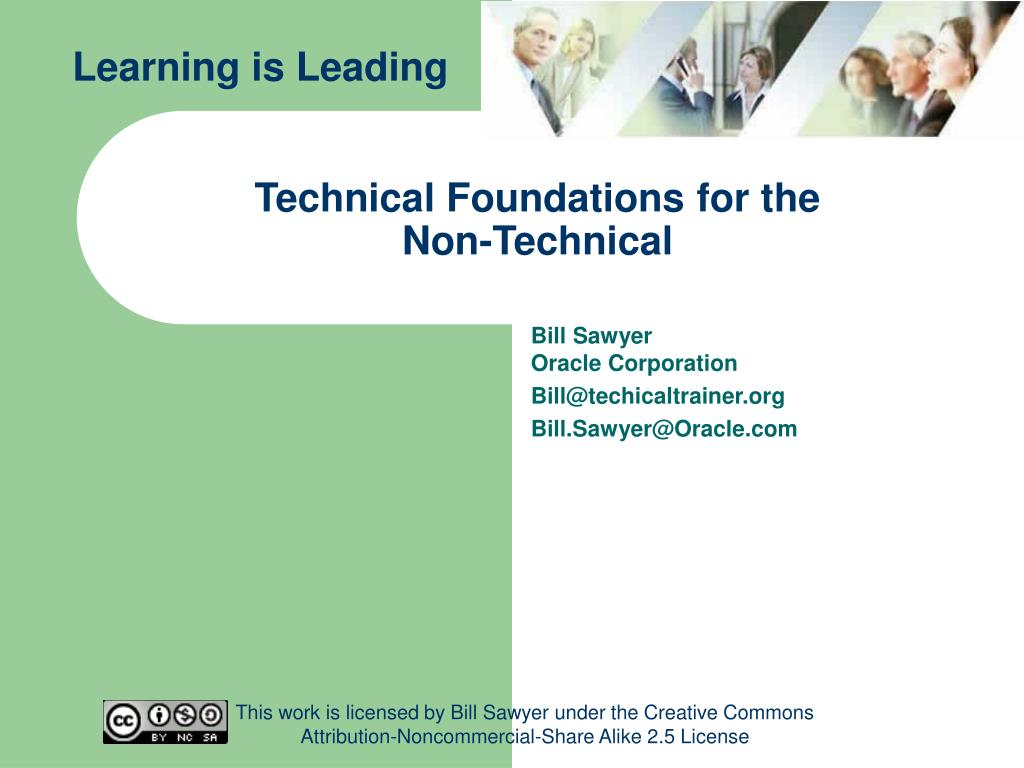 technical foundations for the non technical