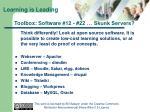 toolbox software 12 22 skunk servers