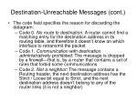 destination unreachable messages cont