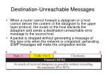 destination unreachable messages