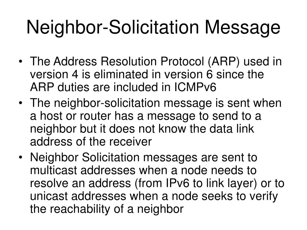 Neighbor-Solicitation Message