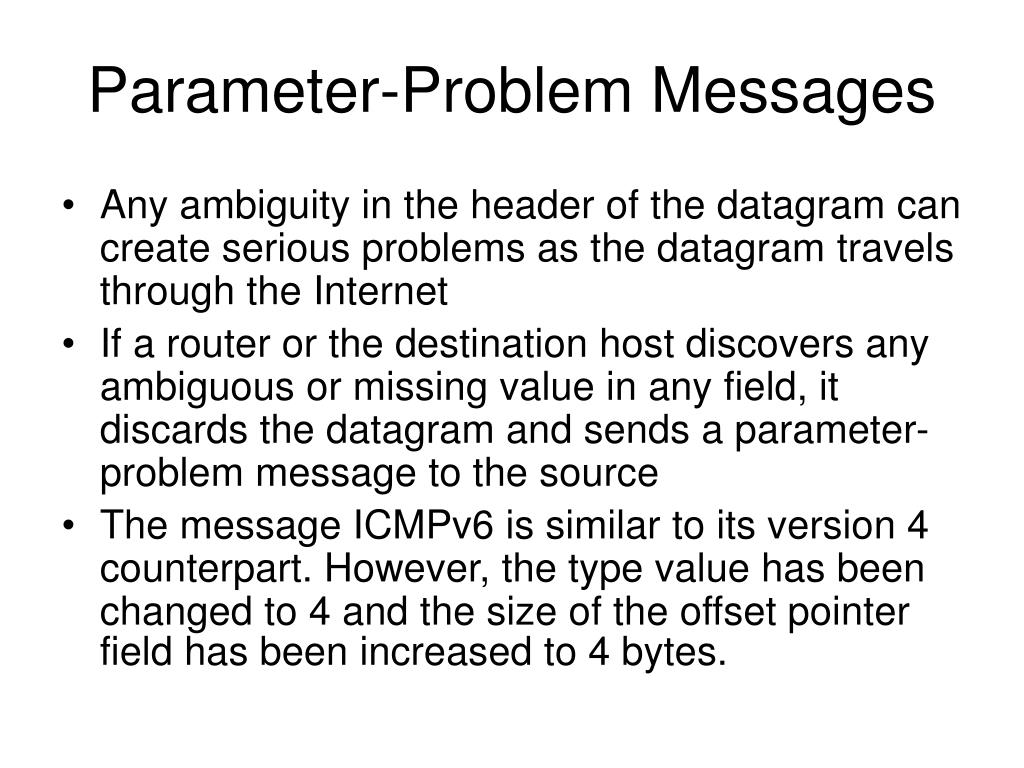 Parameter-Problem Messages