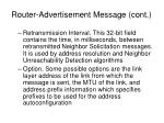 router advertisement message cont27