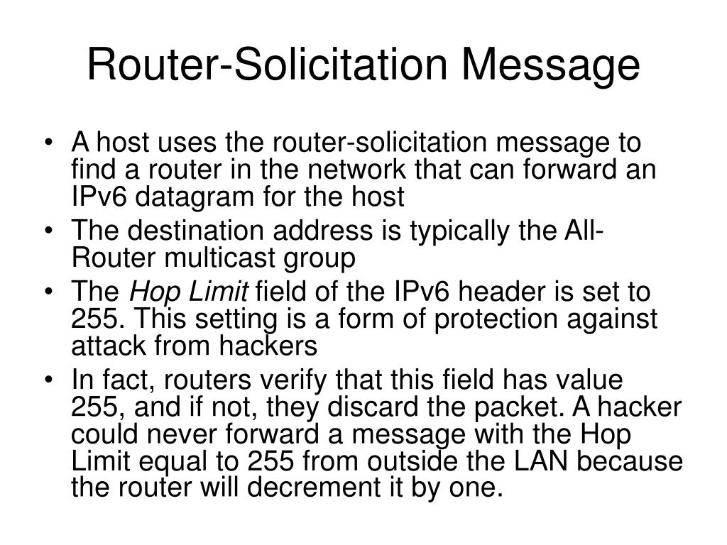 Router-Solicitation Message