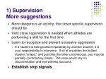 1 supervision more suggestions