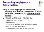 preventing negligence 2 instruction