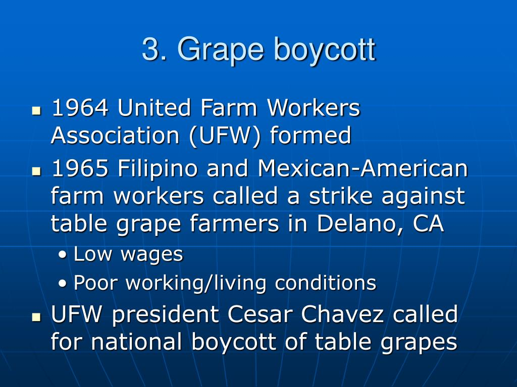 3. Grape boycott