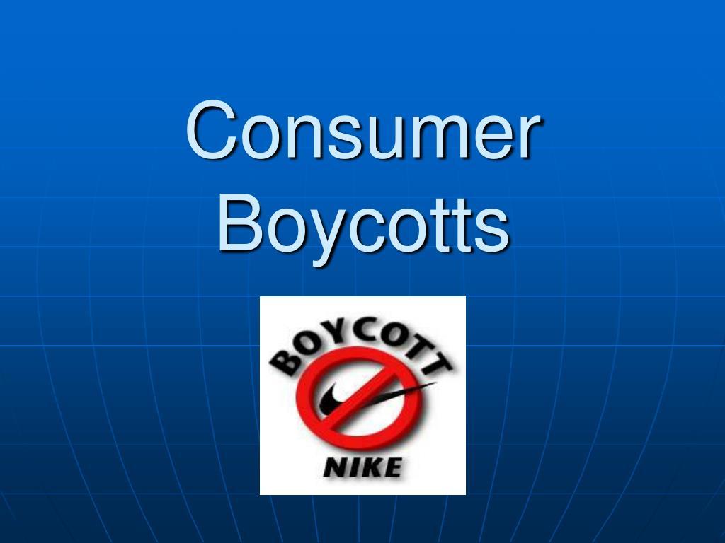 Consumer Boycotts